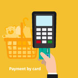 Credit card online payment. Credit plastic card usage. Online payment vector illustration Stock Images
