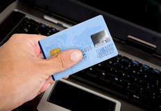 Credit card online payments Royalty Free Stock Image