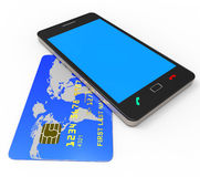 Credit Card Online Represents World Wide Web And Bought Royalty Free Stock Image