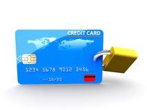 Credit card and padlock Stock Photography