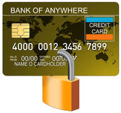 Credit card with padlock Stock Photos