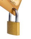 Credit card and padlock Royalty Free Stock Photography