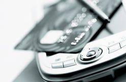 Credit card  and palmtop. Credit card , palmtop and stylus Royalty Free Stock Images