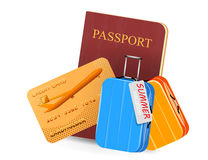 Credit card with passport book traveling concepts Stock Photography