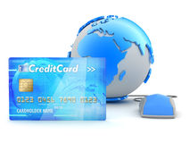 Credit card payment - concept illustration Royalty Free Stock Image