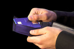 Credit card payment - hands Stock Photography