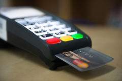 Credit card payment for shopping with machine pay business. Banking Stock Image