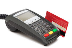 Credit Card Payment Terminal Stock Photography