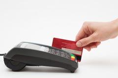 Credit Card Payment Terminal Stock Photos