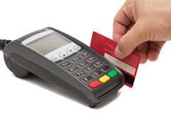 Credit Card Payment Terminal Royalty Free Stock Image