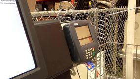 Credit card payment terminal and transfer payment stock footage