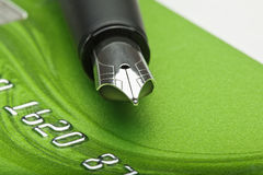 Credit card and pen Royalty Free Stock Images
