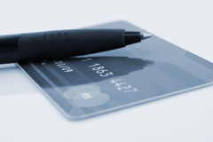 Credit card and pen Royalty Free Stock Photos