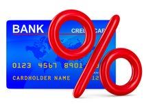 Credit card and percent Stock Photos
