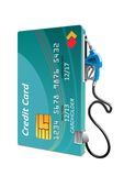 Credit card with petrol or gasoline pump Royalty Free Stock Photo