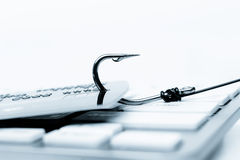 Credit card phishing attack Royalty Free Stock Images