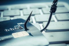Credit card phishing attack Stock Photos