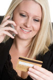 Credit Card Phone Businesswoman Royalty Free Stock Images