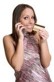 Credit Card Phone Woman Stock Image