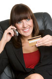 Credit Card Phone Woman Royalty Free Stock Photo