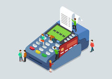 Credit card pin payment terminal concept flat 3d web isometric Royalty Free Stock Image