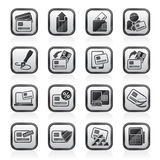 Credit card, POS terminal and ATM icons Stock Images