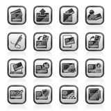 Credit card, POS terminal and ATM icons Stock Photo