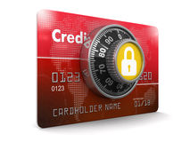 Credit Card Protection (clipping path included) Royalty Free Stock Photo