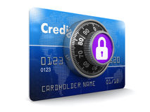 Credit Card Protection (clipping path included) Royalty Free Stock Image