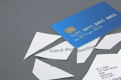 Credit card protection policy cut into pieces with Credit Card Stock Images
