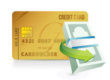 Credit card purchasing limit concept. Illustrations design over white royalty free illustration