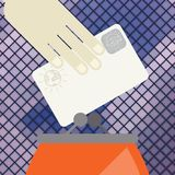 Credit Card And Purse In Flat Design Style Stock Photo