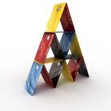 Credit card pyramid Stock Photos