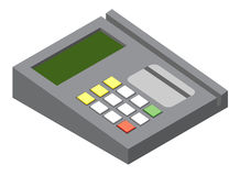 Credit card reader. Illustration of generic credit card reader device Stock Image