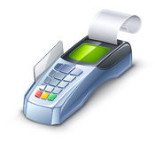 Credit card reader. Vector illustration of credit card reader on white background Stock Photography