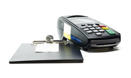 Credit card reader Royalty Free Stock Photo