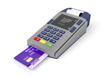 Credit card reader Royalty Free Stock Image