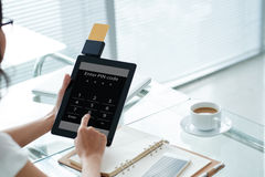 Credit card reader Royalty Free Stock Images