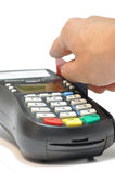 Credit card reader isolated Stock Photo