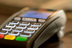 Credit card reader machine Stock Photos