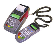 Credit card reader with pin pad Royalty Free Stock Image