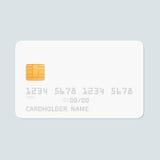 Credit card realistic mockup. royalty free illustration