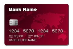 Credit Card (red) Royalty Free Stock Photography