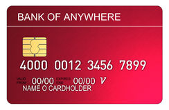 Credit card red metallic Stock Photography