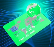 Credit Card Represents Debit Commerce And Credit-Card Royalty Free Stock Image