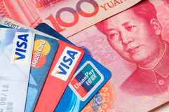 Credit card with RMB royalty free stock photo
