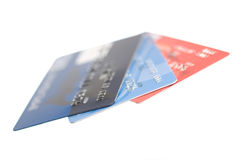 Credit cards. Credit card numbers with a copy space. Shallow DOF Stock Photography