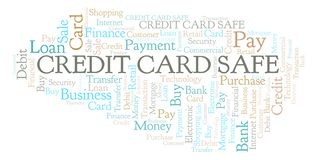 Credit Card Safe word cloud. Wordcloud made with text only stock illustration