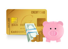 Credit card savings Stock Images