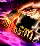 Credit card with secure chip. Background illustration stock illustration